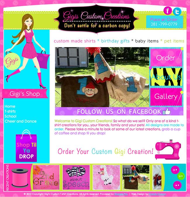 sewing website design