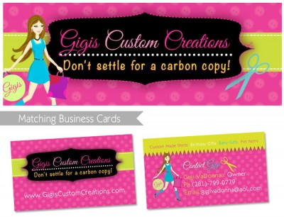 matching business cards and timeline cover