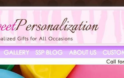 Simply Sweet Personalization Web Design