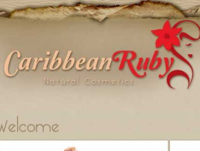 Caribbean Ruby Cosmetics Website Design