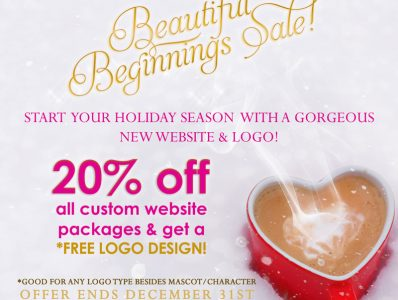 Beautiful Beginnings Sale! 20% off and Free Logo Design
