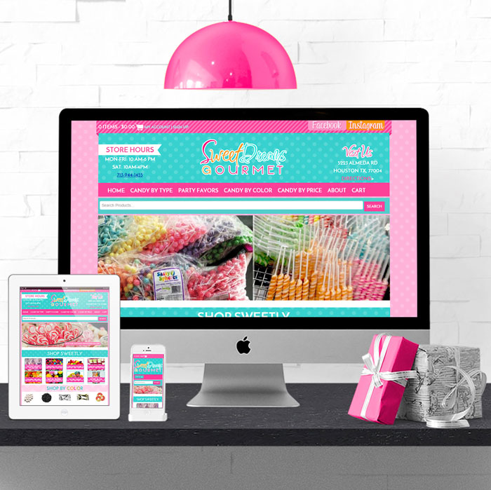 Candy Website Design
