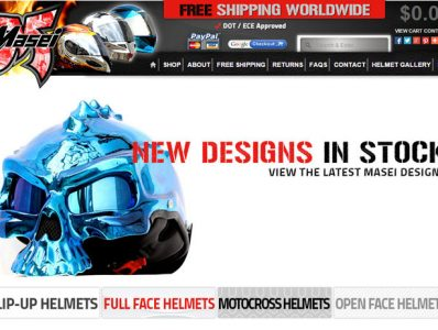 Motorcycle Helmet Website Design