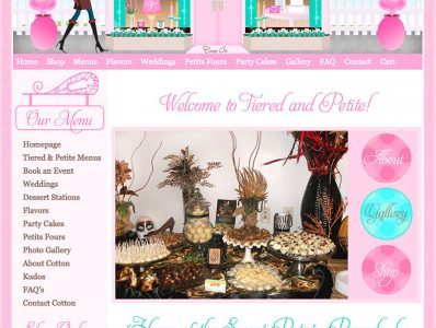 Tiered and Petite Bakery Website Design