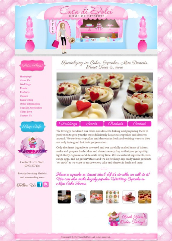 Dessert Website Design