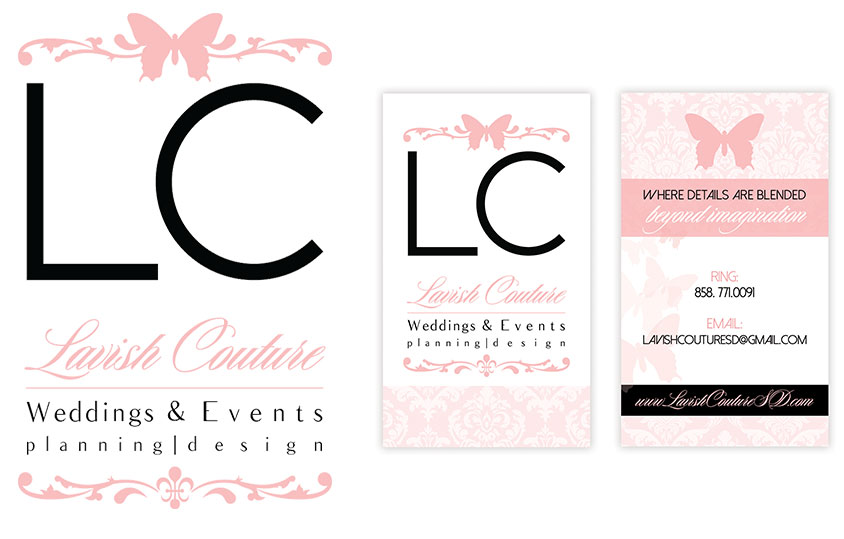 couture logo design and business cards