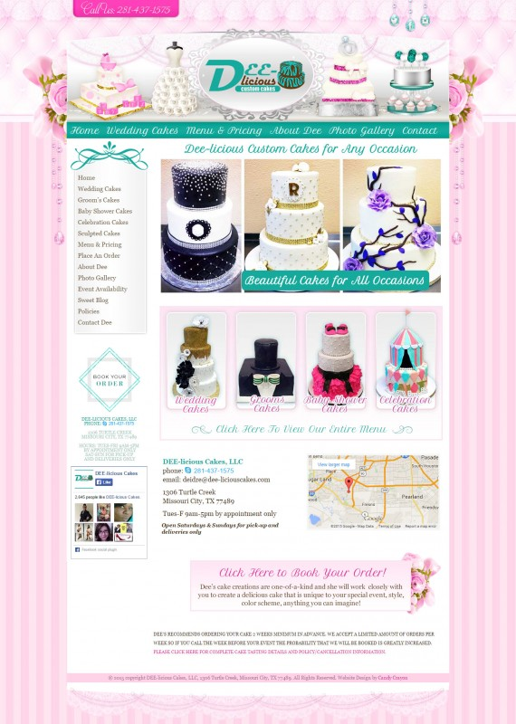 Illustrative Cake Website Design
