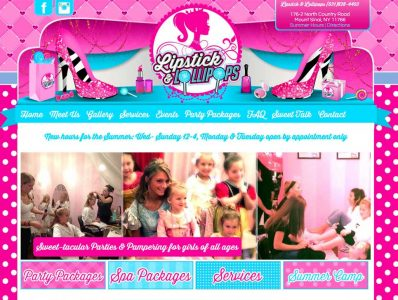 Girls Spa Website Design
